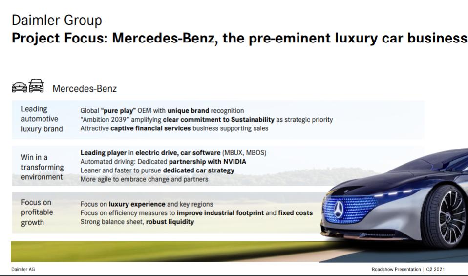 Ключевые положения: Mercedes Cars